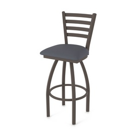 410 Jackie Swivel Stool with Bronze Finish and Canter Storm Seat