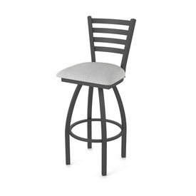 410 Jackie Swivel Stool with Pewter Finish and Graph Alpine Seat