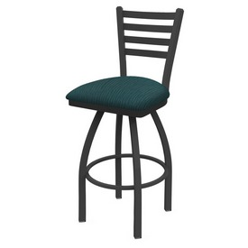 410 Jackie Swivel Stool with Pewter Finish and Graph Tidal Seat