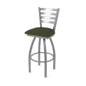 410 Jackie Swivel Stool with Stainless Finish and Canter Pine Seat