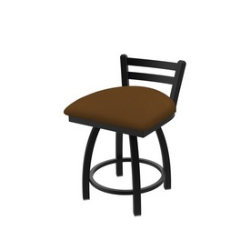 411 Jackie Low Back Swivel Stool with Black Wrinkle Finish and Canter Thatch Seat