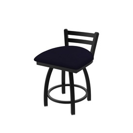 411 Jackie Low Back Swivel Stool with Black Wrinkle Finish and Canter Twilight Seat
