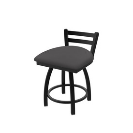 411 Jackie Low Back Swivel Stool with Black Wrinkle Finish and Canter Storm Seat