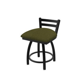 411 Jackie Low Back Swivel Stool with Black Wrinkle Finish and Graph Parrot Seat