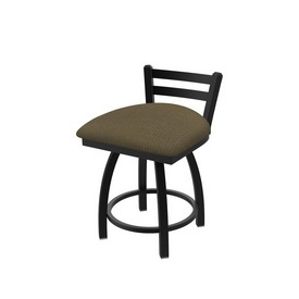 411 Jackie Low Back Swivel Stool with Black Wrinkle Finish and Graph Cork Seat