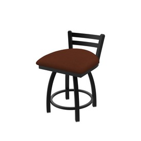 411 Jackie Low Back Swivel Stool with Black Wrinkle Finish and Rein Adobe Seat