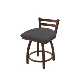 """411 Jackie 18"""" Low Back Swivel Vanity Stool with Bronze Finish and Canter Storm Seat"""
