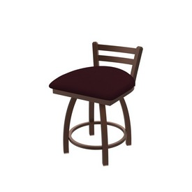 """411 Jackie 18"""" Low Back Swivel Vanity Stool with Bronze Finish and Canter Bordeaux Seat"""