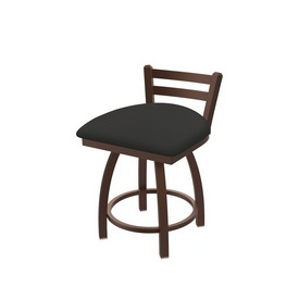 """411 Jackie 18"""" Low Back Swivel Vanity Stool with Bronze Finish and Canter Iron Seat"""