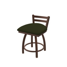 """411 Jackie 18"""" Low Back Swivel Vanity Stool with Bronze Finish and Canter Pine Seat"""