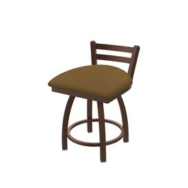 """411 Jackie 18"""" Low Back Swivel Vanity Stool with Bronze Finish and Canter Saddle Seat"""