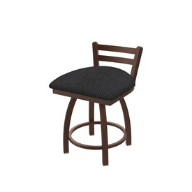 """411 Jackie 18"""" Low Back Swivel Vanity Stool with Bronze Finish and Graph Anchor Seat"""