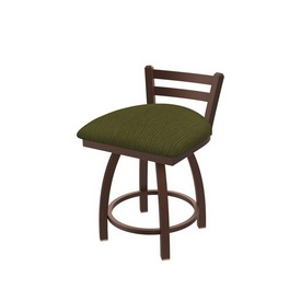 """411 Jackie 18"""" Low Back Swivel Vanity Stool with Bronze Finish and Graph Parrot Seat"""