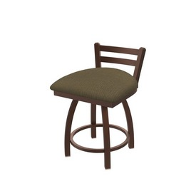 """411 Jackie 18"""" Low Back Swivel Vanity Stool with Bronze Finish and Graph Cork Seat"""