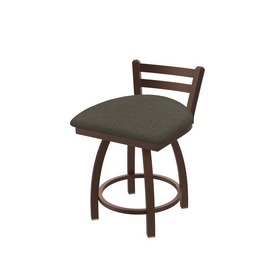 """411 Jackie 18"""" Low Back Swivel Vanity Stool with Bronze Finish and Graph Chalice Seat"""
