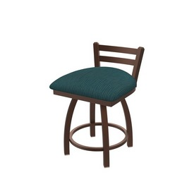 """411 Jackie 18"""" Low Back Swivel Vanity Stool with Bronze Finish and Graph Tidal Seat"""