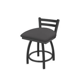 """411 Jackie 18"""" Low Back Swivel Vanity Stool with Pewter Finish and Canter Storm Seat"""