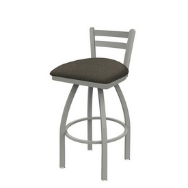411 Jackie Low Back Swivel Stool with Anodized Nickel Finish and Graph Chalice Seat