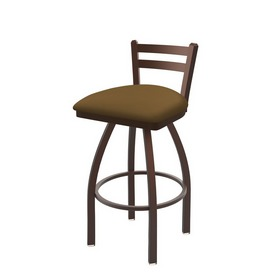 411 Jackie Low Back Swivel Stool with Bronze Finish and Canter Saddle Seat
