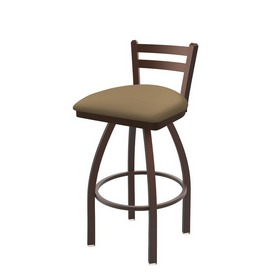 411 Jackie Low Back Swivel Stool with Bronze Finish and Canter Sand Seat