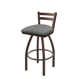 411 Jackie Low Back Swivel Stool with Bronze Finish and Graph Alpine Seat