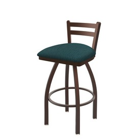 411 Jackie Low Back Swivel Stool with Bronze Finish and Graph Tidal Seat