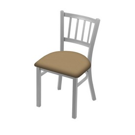 "610 Contessa 18"" Chair with Anodized Nickel Finish and Canter Sand Seat"