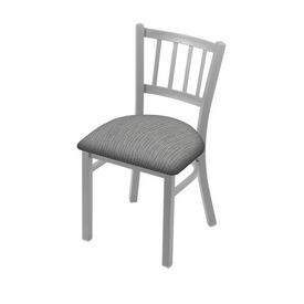 "610 Contessa 18"" Chair with Anodized Nickel Finish and Graph Alpine Seat"