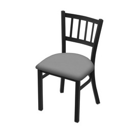 "610 Contessa 18"" Chair with Black Wrinkle Finish and Canter Folkstone Grey Seat"