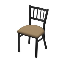 """610 Contessa 18"""" Chair with Black Wrinkle Finish and Canter Sand Seat"""