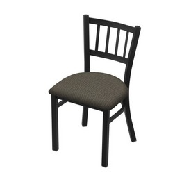 "610 Contessa 18"" Chair with Black Wrinkle Finish and Graph Chalice Seat"