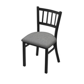 """610 Contessa 18"""" Chair with Black Wrinkle Finish and Graph Alpine Seat"""