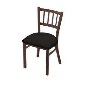 "610 Contessa 18"" Chair with Bronze Finish and Canter Espresso Seat"