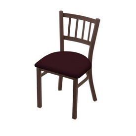 "610 Contessa 18"" Chair with Bronze Finish and Canter Bordeaux Seat"