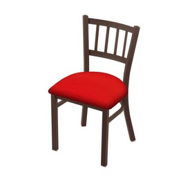 """610 Contessa 18"""" Chair with Bronze Finish and Canter Red Seat"""