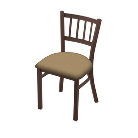 """610 Contessa 18"""" Chair with Bronze Finish and Canter Sand Seat"""