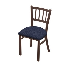 """610 Contessa 18"""" Chair with Bronze Finish and Graph Anchor Seat"""
