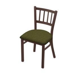 """610 Contessa 18"""" Chair with Bronze Finish and Graph Parrot Seat"""