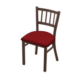 """610 Contessa 18"""" Chair with Bronze Finish and Graph Ruby Seat"""