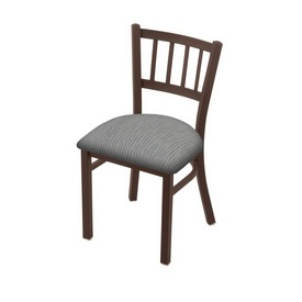 """610 Contessa 18"""" Chair with Bronze Finish and Graph Alpine Seat"""