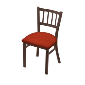 "610 Contessa 18"" Chair with Bronze Finish and Graph Poppy Seat"