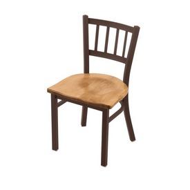 "610 Contessa 18"" Chair with Bronze Finish and Medium Maple Seat"