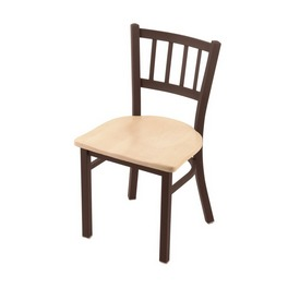 "610 Contessa 18"" Chair with Bronze Finish and Natural Maple Seat"