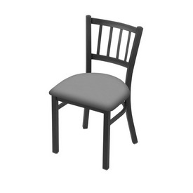 """610 Contessa 18"""" Chair with Pewter Finish and Canter Folkstone Grey Seat"""
