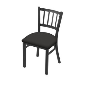 """610 Contessa 18"""" Chair with Pewter Finish and Canter Iron Seat"""