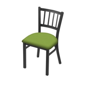 "610 Contessa 18"" Chair with Pewter Finish and Canter Kiwi Green Seat"