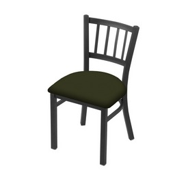 """610 Contessa 18"""" Chair with Pewter Finish and Canter Pine Seat"""