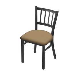 "610 Contessa 18"" Chair with Pewter Finish and Canter Sand Seat"