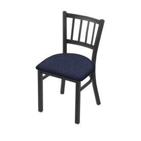 """610 Contessa 18"""" Chair with Pewter Finish and Graph Anchor Seat"""