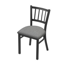 """610 Contessa 18"""" Chair with Pewter Finish and Graph Alpine Seat"""